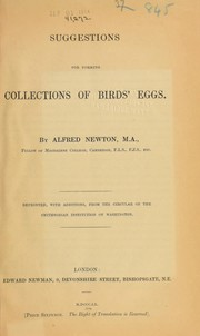 Cover of: Suggestions for forming collections of birds' eggs