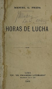 Cover of: Horas de lucha
