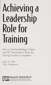Cover of: Achieving a leadership role for training