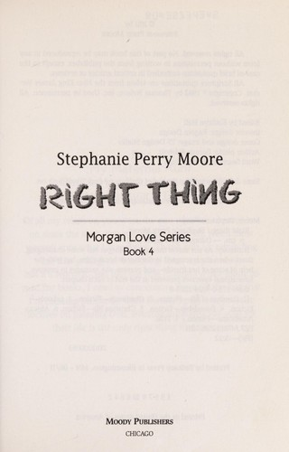 Right thing by Stephanie Perry Moore
