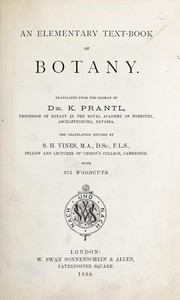 Cover of: An elementary text-book of botany. | Karl Anton Eugen Prantl