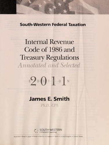 South-Western federal taxation internal revenue code of 1986 and treasury regulations by United States