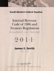 Cover of: South-Western federal taxation internal revenue code of 1986 and treasury regulations | United States