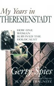 Cover of: My years in Theresienstadt