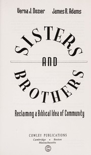 Cover of: Sisters and brothers | Verna J. Dozier
