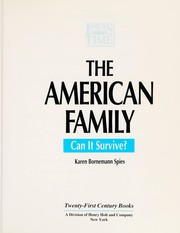 Cover of: The American family | Karen Bornemann Spies