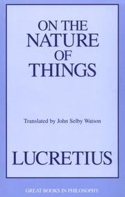 Cover of: On the nature of things by Titus Lucretius Carus