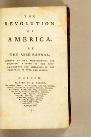 Cover of: The revolution of America