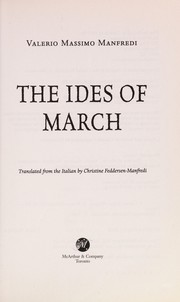 Cover of: The ides of March | Valerio Manfredi