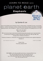 Cover of: Elephants | Quinlan B. Lee