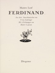 Cover of: Gr-Ferdinand