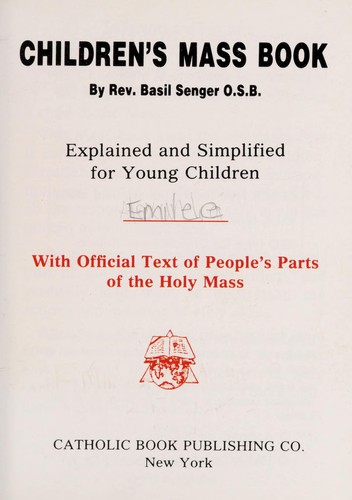 Children's Mass book by Basilius Senger