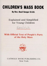 Cover of: Children's Mass book | Basilius Senger