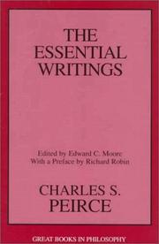 Cover of: Charles S. Peirce
