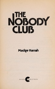 Cover of: The nobody club