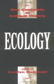 Cover of: Ecology