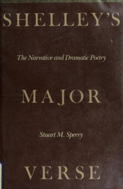 Cover of: Shelley's major verse | Stuart M. Sperry
