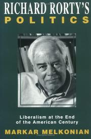 Cover of: Richard Rorty's Politics