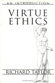 Cover of: Virtue, ethics