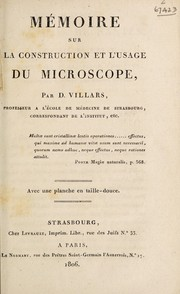 Cover of: Mémoire sur la construction et l'usage du microscope