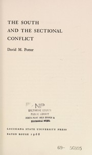 Cover of: The South and the sectional conflict