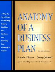 Cover of: Anatomy of a business plan