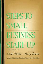 Cover of: Steps to small business start-up