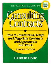 Cover of: The complete guide to consulting contracts