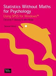 Statistics without maths for psychology by Christine P. Dancey