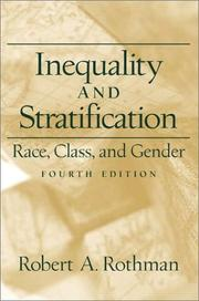 Cover of: Inequality and Stratification