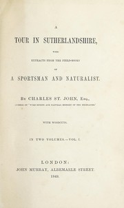 Cover of: A tour in Sutherlandshire | St. John, Charles