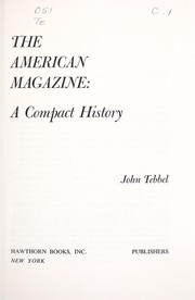 Cover of: The American magazine: a compact history