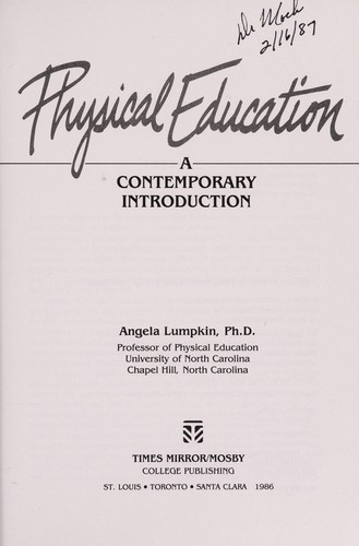 Physical education by Angela Lumpkin