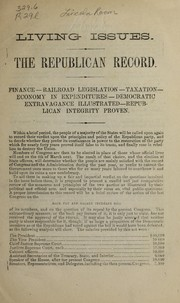 Cover of: Living issues | Republican Congressional Committee, 1875-1877