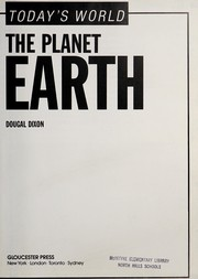 Cover of: The planet Earth | Dougal Dixon