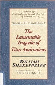Cover of: The lamentable tragedie of Titus Andronicus | William Shakespeare
