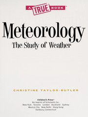 Cover of: Meteorology the study of weather | Christine Taylor-Butler