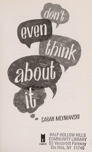 Don't even think about it by Mlynowski, Sarah