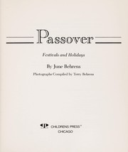Cover of: Passover: Festivals and Holidays (Holiday Collection)