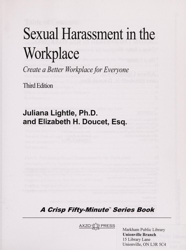 Sexual harassment in the workplace by Juliana Lightle