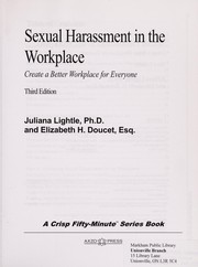 Cover of: Sexual harassment in the workplace | Juliana Lightle