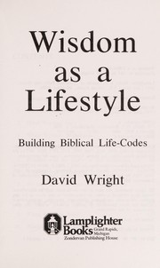 Cover of: Wisdom as a lifestyle