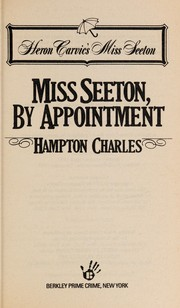 Cover of: Miss Seeton, by appointment