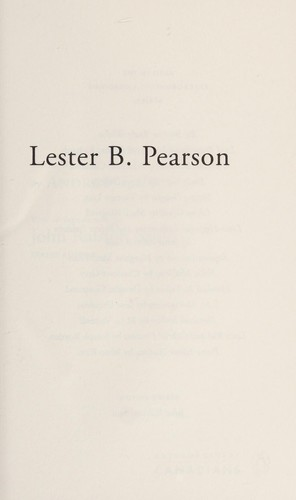 Lester B. Pearson by Cohen, Andrew