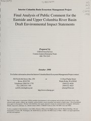 Cover of: Interior Columbia Basin ecosystem management project