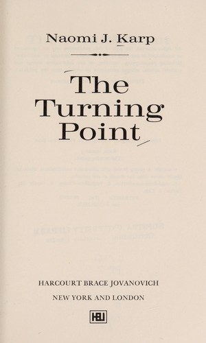 The turning point by Naomi J. Karp