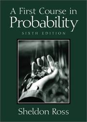 Cover of: A first course in probability | Sheldon M. Ross