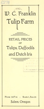 Cover of: Retail prices of tulips, daffodils and Dutch iris | W.C. Franklin Tulip Farm