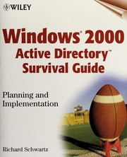 Cover of: Windows 2000 active directory survival guide | Richard Schwartz