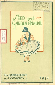 Seed and garden annual, 1932